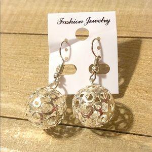🔥2 for $12 Silver Filigree Dangle Earrings